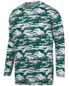 Augusta Drop Ship 1807 Adult Mod Camo Wicking Long-Sleeve T-Shirt