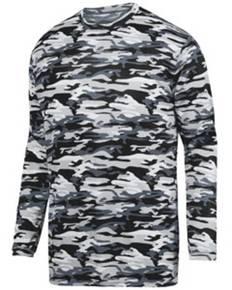 Augusta Drop Ship 1808 Youth Mod Camo Wicking Long-Sleeve T-Shirt