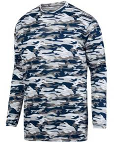 Augusta Drop Ship 1808 Youth Mod Camo Wicking Long-Sleeve T-Shirt