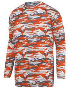 Augusta Sportswear 1808 Youth Mod Camo Wicking Long-Sleeve T-Shirt