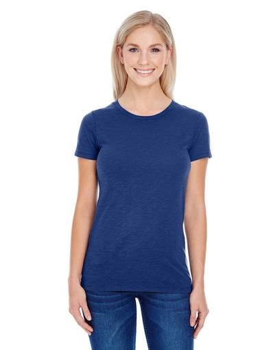 threadfast apparel 201a ladies' slub jersey short-sleeve t-shirt front image