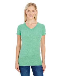Threadfast Apparel 202B Ladies' Triblend Short-Sleeve V-Neck Tee