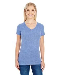 Threadfast Apparel 202B Ladies' Triblend Short-Sleeve V-Neck T-Shirt