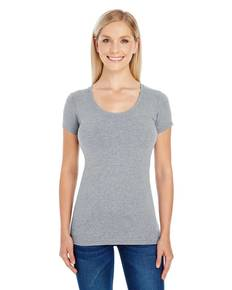 Threadfast Apparel 220S Ladies' Spandex Short-Sleeve Scoop Neck T-Shirt