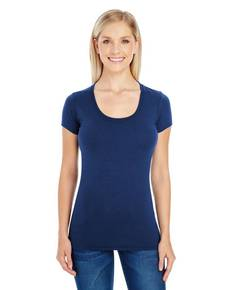 Threadfast Apparel 220S Ladies' Spandex Short-Sleeve Scoop Neck Tee