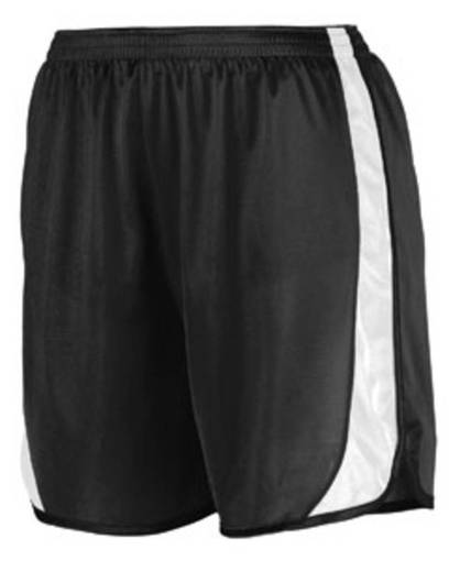 augusta drop ship 328 youth wicking track short with side insert front image