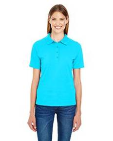 Hanes 035P Ladies' 6.5 oz. X-Temp® Piqué Short-Sleeve Polo with Fresh IQ