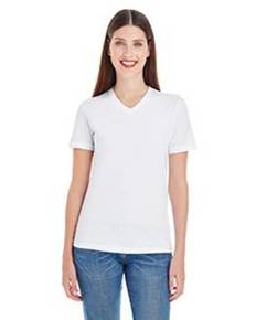 American Apparel 2356 Ladies' Fine Jersey Short-Sleeve Classic V-Neck