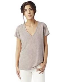 alternative-2894b2-ladies-39-melange-burnout-slinky-v-neck-t-shirt