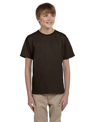 hanes 5370 youth 5.2 oz., 50/50 ecosmart® t-shirt front image