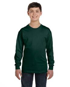 Hanes 5546 Youth 6.1 oz. Tagless® Long-Sleeve T-Shirt