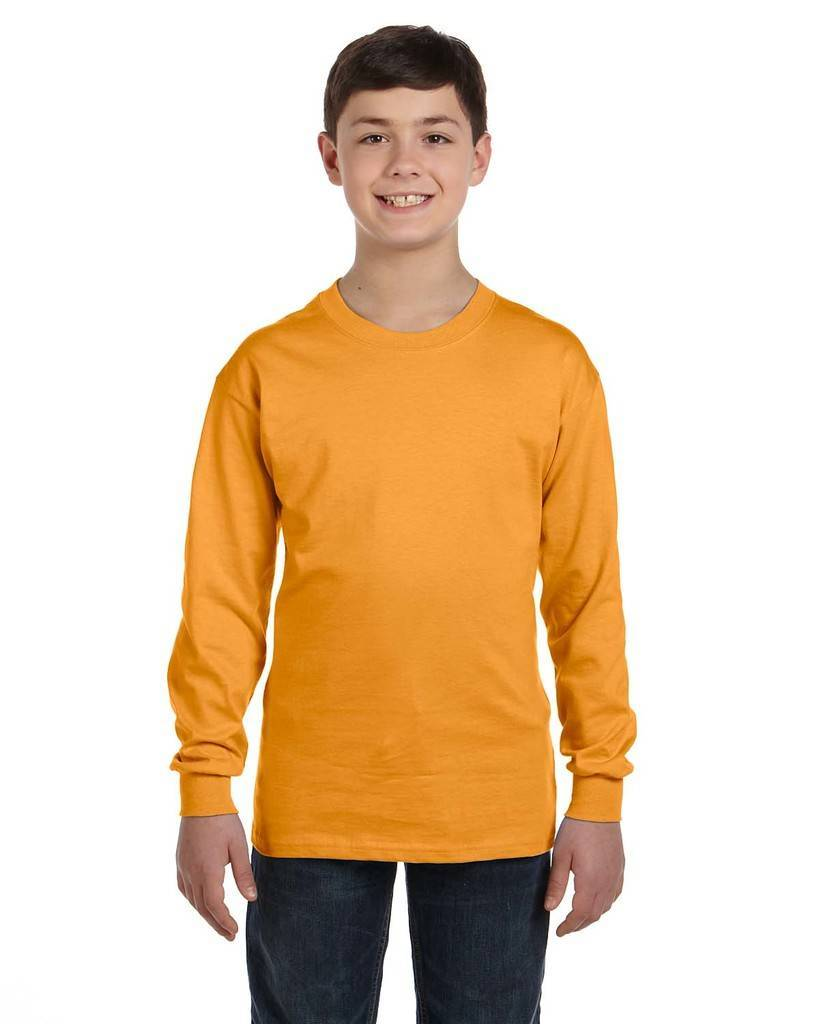 97a8a0e3 Hanes 5546 Youth 6.1 oz. Tagless® Long-Sleeve T-Shirt