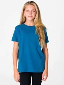 American Apparel 2201ORW Youth Organic Fine Jersey Short-Sleeve T-Shirt