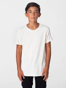 American Apparel 2201ORW Youth Organic Fine Jersey Short-Sleeve T-Shirt