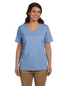 Hanes 5780 Ladies' 5.2 oz. ComfortSoft® V-Neck Cotton T-Shirt