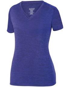 Augusta Sportswear 2952 Ladies' Intensify BlackHeather Short-Sleeve Training T-Shirt