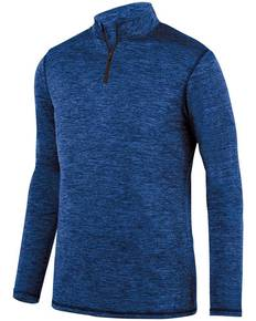 Augusta Sportswear 2955 Adult Intensify Black Heather Quarter-Zip Pullover