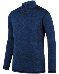 Augusta Sportswear 2955 Adult Intensify Black Heather Quarter-Zip Pullover