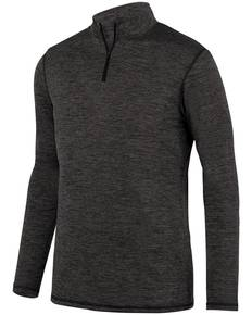 Augusta Drop Ship 2956 Youth Intensify Black Heather Quarter-Zip Pullover