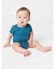 American Apparel 4001ORW Infant Organic Baby Rib Short-Sleeve One-Piece