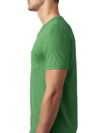 next level 6245 men's cvc v with pocket front image