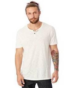 Alternative Drop Ship 6897J1 Home Team Garment Dyed Slub Henley Shirt