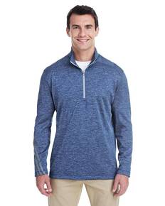 adidas Golf A284 Men's 3-Stripes Heather Quarter-Zip