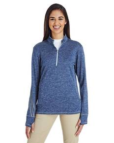 adidas Golf A285 Ladies' 3-Stripes Heather Quarter-Zip