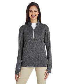 adidas Golf A285 Ladies' 3-Stripes Heather Quarter-Zip