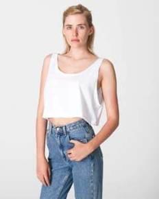 American Apparel ABB381W Ladies' Poly-Cotton Loose Crop Tank Top