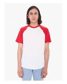 American Apparel BB4237W Unisex Poly-Cotton Raglan T-Shirt