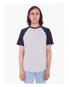 American Apparel BB4237W Unisex Poly-Cotton Raglan T-Shirt