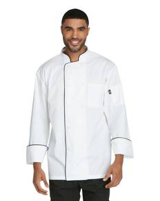 Dickies Chef DC411 Unisex Cool Breeze Chef Coat with Piping