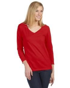 Bella + Canvas 6425 Missy Jersey 3/4-Sleeve V-Neck T-Shirt