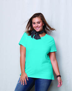Hanes JMS20 Ladies' JMS 4.5 oz., 100% Ringspun Cotton Crew T-Shirt