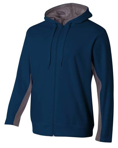 a4 nb4251 youth tech fleece full-zip hooded sweatshirt front image
