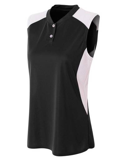 a4 nw3318 ladies' sleeveless 2 button henley front image