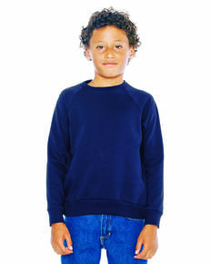 American Apparel SA5254W Youth California Fleece Raglan Sweatshirt