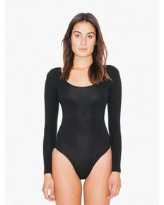 American Apparel SA8357W Ladies' Cotton Spandex Long Sleeve Double U-Neck Bodysuit