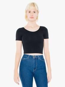 American Apparel SA8380W Ladies' Cotton Spandex Short-Sleeve Crop Top