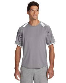 Russell Athletic 6B6DPM Dri-Power® T-Shirt with Colorblock Inserts