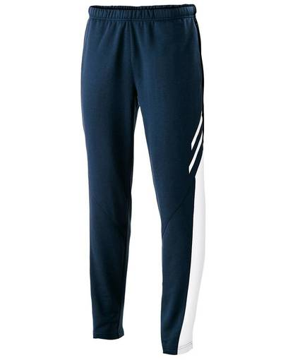 holloway 229670 youth temp-sof fabric performance fleece flux tapered-leg warm-up pant front image