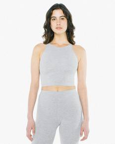 American Apparel 8369W Ladies' Cotton Spandex Sleeveless Crop Top