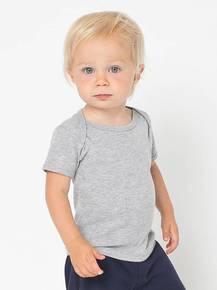 American Apparel AM4000W Infant Baby Rib Short-Sleeve Lap T-Shirt
