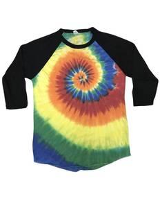 Tie-Dye CD2700 Raglan Long Sleeve T-Shirt