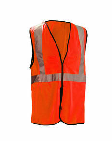OccuNomix ECOGCBL Men's High Visibility Value 5-pt. Break-Away Safety Mesh Vest