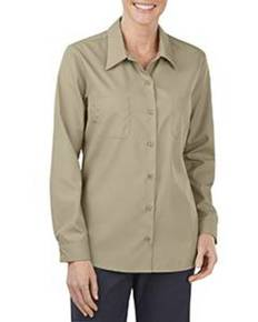 Dickies Drop Ship FL5350 Ladies' Industrial Long-Sleeve Work Shirt