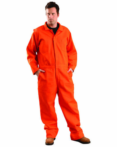 occunomix g909i men's classic indura® flame resistant hrc 2 coverall front image