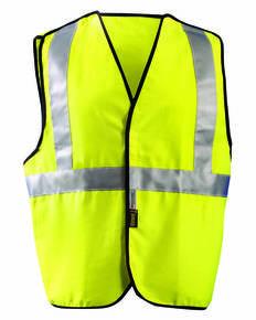 OccuNomix LUXSSCB Men's Classic Flame Resistant Cotton Dual Stripe Solid HRC 1 Vest