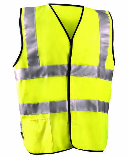 occunomix luxsscf men's classic flame resistant cotton blend dual stripe solid hrc 1 vest front image